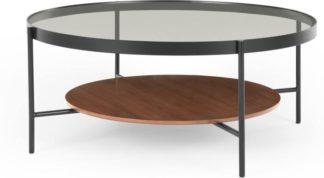 An Image of Kameko Coffee Table, Walnut and Glass