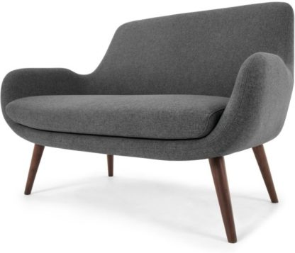 An Image of Moby 2 Seater Sofa, Marl Grey