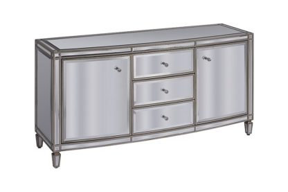 An Image of Antoinette Toughened Mirror Sideboard
