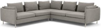An Image of Vento 5 Seater Corner Sofa, Manhattan Grey