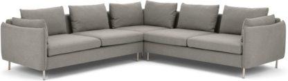 An Image of Vento 5 Seater Corner Sofa, Manhattan Grey