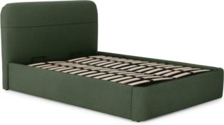 An Image of Baya Double Bed with Ottoman Storage, Woodland Green