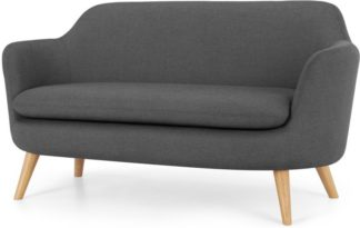 An Image of Nya 2 Seater Sofa, Summit Grey Weave