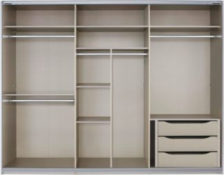 An Image of Malix 270cm Sliding Wardrobe Premium Interior Package