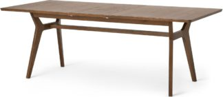 An Image of Jenson 6-8 Seat Extending Dining Table, Dark Stain Oak
