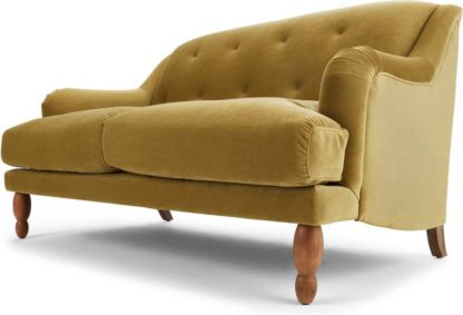 An Image of Ariana 2 Seater Sofa, Ochre Velvet
