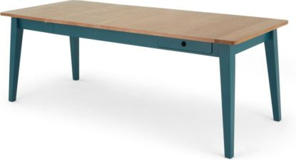 An Image of Ralph 6-8 Seat Extending Dining Table, Oak and Teal