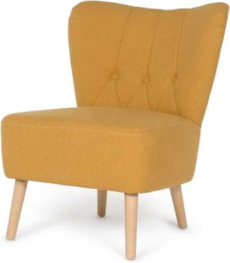 An Image of Charley Accent Chair, Yolk Yellow