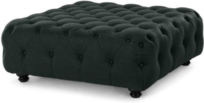 An Image of Branagh Large Ottoman, Anthracite Grey
