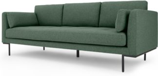 An Image of Harlow 3 Seater Sofa, Darby Green