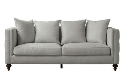 An Image of Ascot Three Seat Sofa – Dove Grey