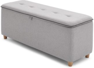 An Image of Burcot Upholstered Storage Bench, Contrast Grey