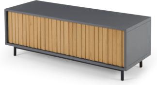 An Image of Sheer Media Unit, Oak and Grey
