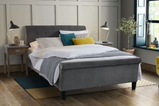 An Image of Portofino Bed Grey Velvet