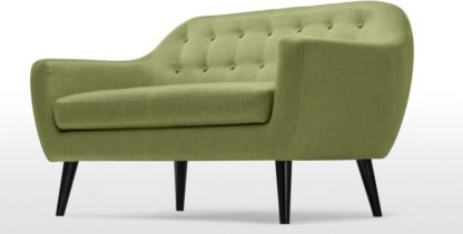 An Image of Ritchie 2 Seater Sofa, Lime Green