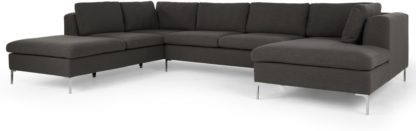 An Image of Monterosso Left Hand Facing Corner Sofa, Oyster Grey