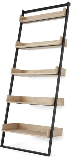 An Image of Hamilton Bookcase, Light Mango Wood and Black