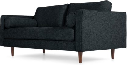 An Image of Scott Large 2 Seater Sofa, Textured Weave Navy