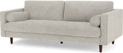 An Image of Scott 3 Seater Sofa, Ivory Weave