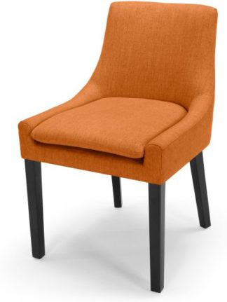 An Image of Percy Scoop Back Chair, Marigold Orange