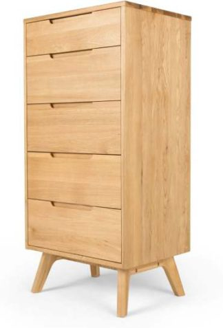 An Image of Jenson Tall Chest, Oak