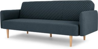 An Image of Ryson Click Clack Sofa Bed with Arms, Aegean Blue