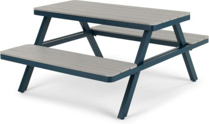 An Image of Thada Garden Pic Nic Table, Polywood and Dark Blue