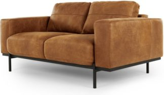 An Image of Jarrod 2 Seater Sofa, Outback Tan Leather