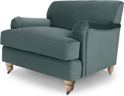 An Image of Orson Armchair, Marine Green Velvet