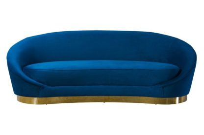 An Image of Selini Three Seat Sofa - Navy Blue