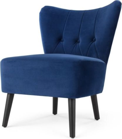 An Image of Charley Accent Armchair, Electric Blue Velvet