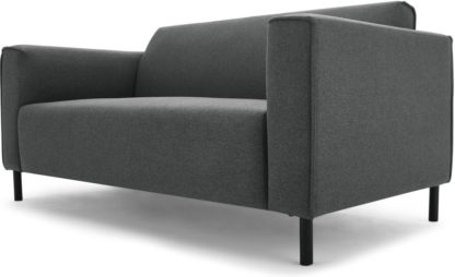 An Image of MADE Essentials Herron 2 Seater Sofa, Marl Grey