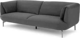 An Image of Inka 3 Seater Sofa, Marl Grey