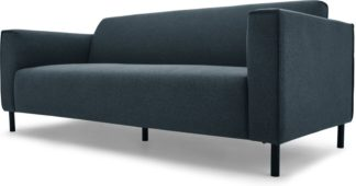An Image of MADE Essentials Herron 3 Seater Sofa, Aegean Blue