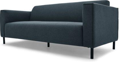 An Image of MADE Essentials Herron 3 Seater Sofa, Aegean Blue