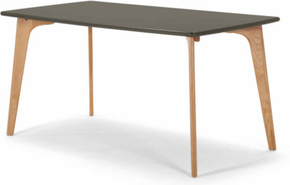An Image of Fjord 6 Seat Rectangle Dining Table, Oak and Grey