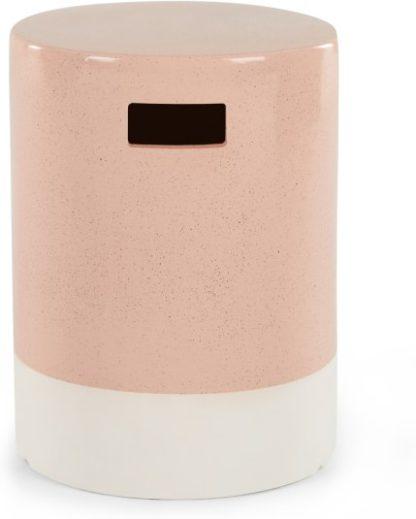 An Image of Sacha Garden Stool, Pink