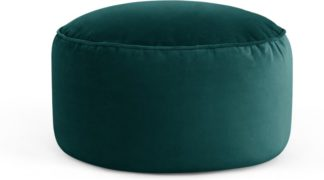 An Image of Lux Velvet floor cushion, Seafoam Blue Velvet