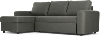 An Image of Aidian Corner Storage Sofa Bed, Pigeon Grey