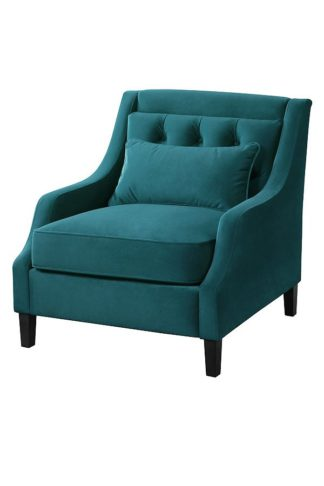 An Image of Zeno Armchair Opulence Teal
