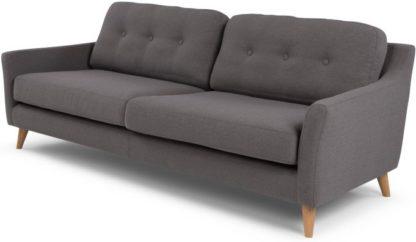 An Image of Rufus 3 Seater Sofa, Rhino Grey