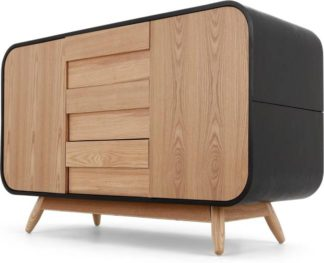 An Image of Esme Sideboard, Black and Ash