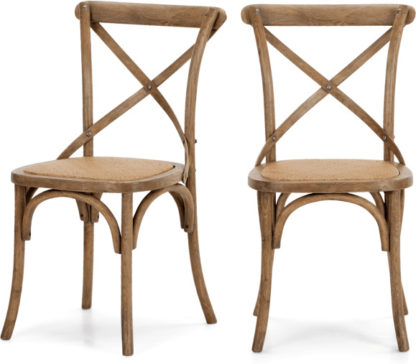 An Image of Set of 2 Rochelle Dining Chairs, Oak