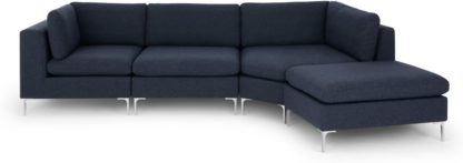 An Image of Monterosso Right Hand Facing Modular Chaise End Sofa, Storm Blue