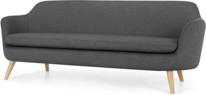 An Image of Nya 3 Seater Sofa, Summit Grey Weave