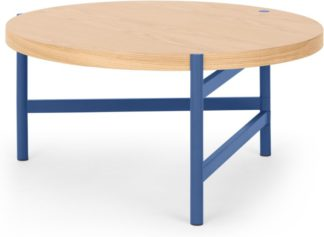 An Image of MADE Essentials Benn Coffee Table, Oak and Blue