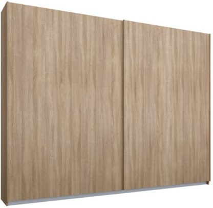 An Image of Malix 2 door 225cm Sliding Wardrobe, Oak frame,Oak doors, Standard Interior