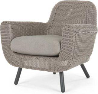 An Image of Jonah Garden Armchair, Light Grey