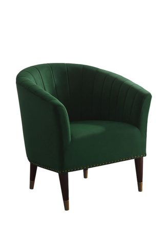 An Image of Bellini Armchair Bottle Green Velvet