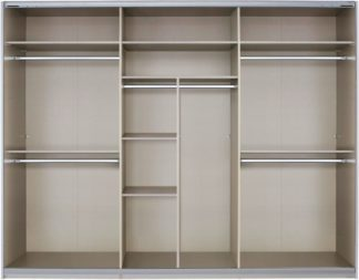 An Image of Malix 270cm Sliding Wardrobe Classic Interior Package